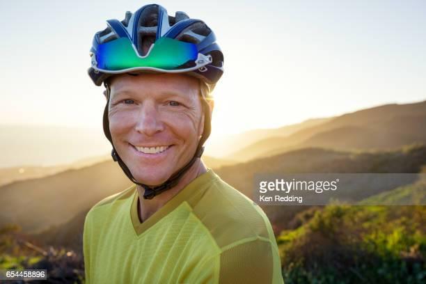 Portrait of a Male Mountain Biker
