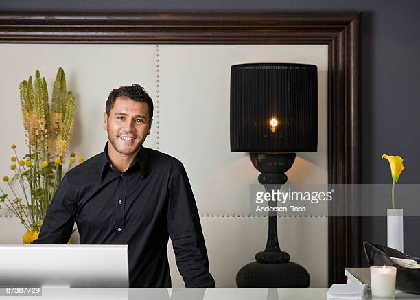 Portrait of a male receptionist