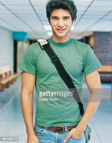 Portrait of a Male Student at University