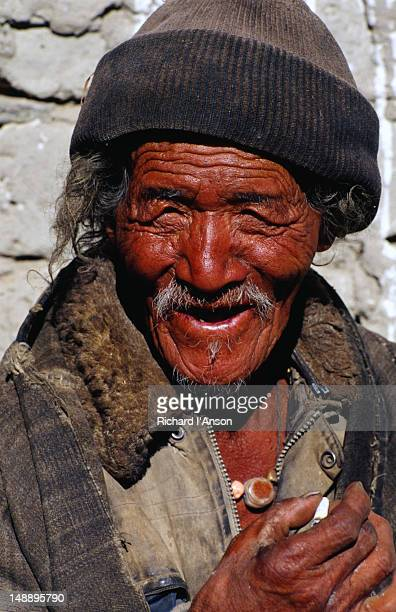 Portrait of a man from Lo Manthang, the capital of Upper Mustang.