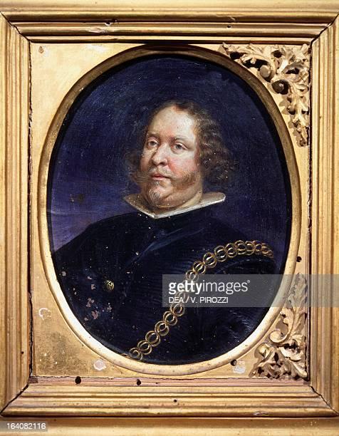 Portrait of a man Genoese school 17th century oil on copper 13x9 cm Rome Galleria Nazionale D'Arte Antica Di Palazzo Corsini