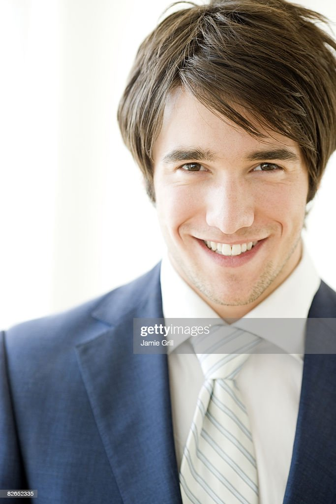 Portrait of a man in a suit : Stock Photo