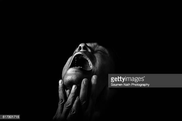 Portrait of a man in despair