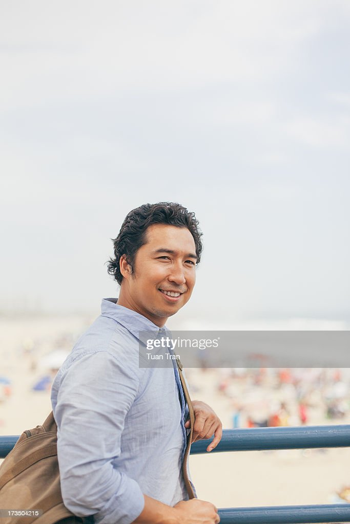 Portrait of a man on sunny day : Stock Photo