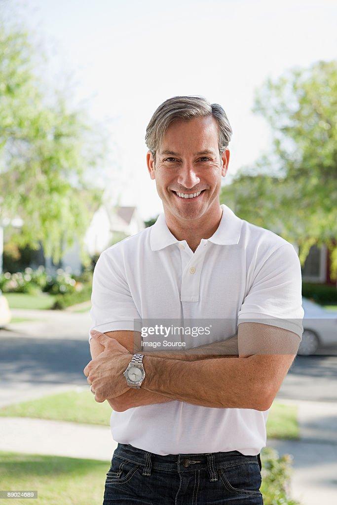 Portrait of a man outdoors