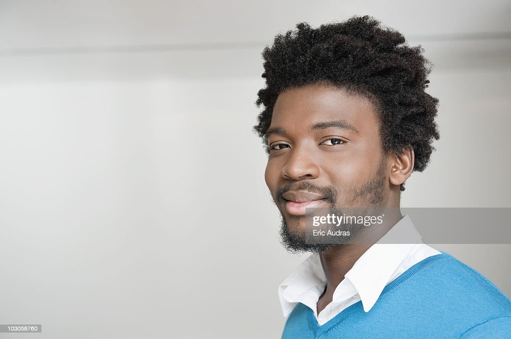 Portrait of a man smiling : Stock Photo