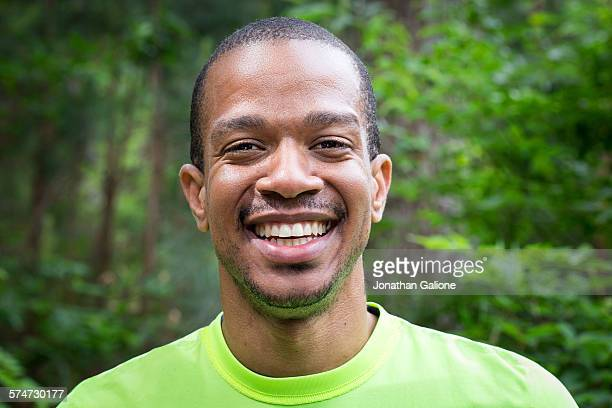 Portrait of a man smiling to the camera