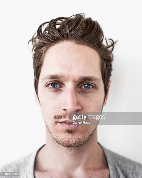 Portrait of a man staring