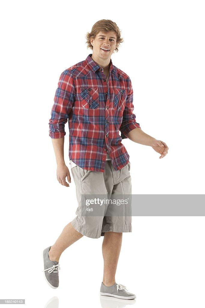 Portrait of a man walking