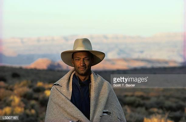 Portrait of a Man Wearing Hat