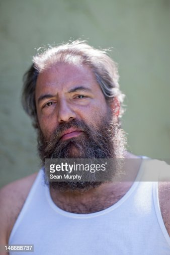 Portrait of a man with a beard. : Stock Photo