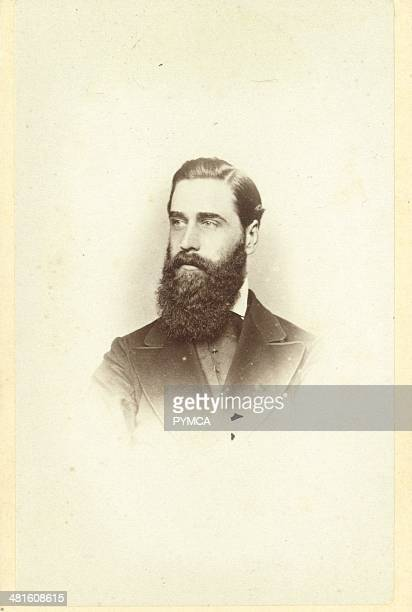 Portrait of a man with a big beard circa 1890s