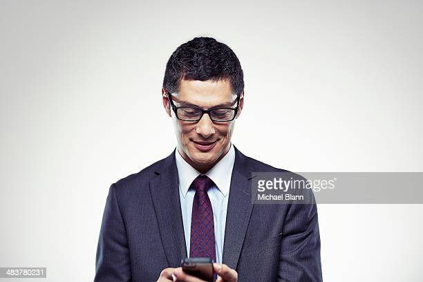 Portrait of a man with a mobile phone