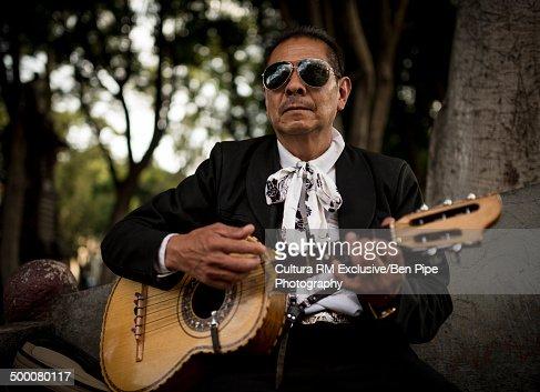 Portrait of a mariachi musician, Puebla, Mexico