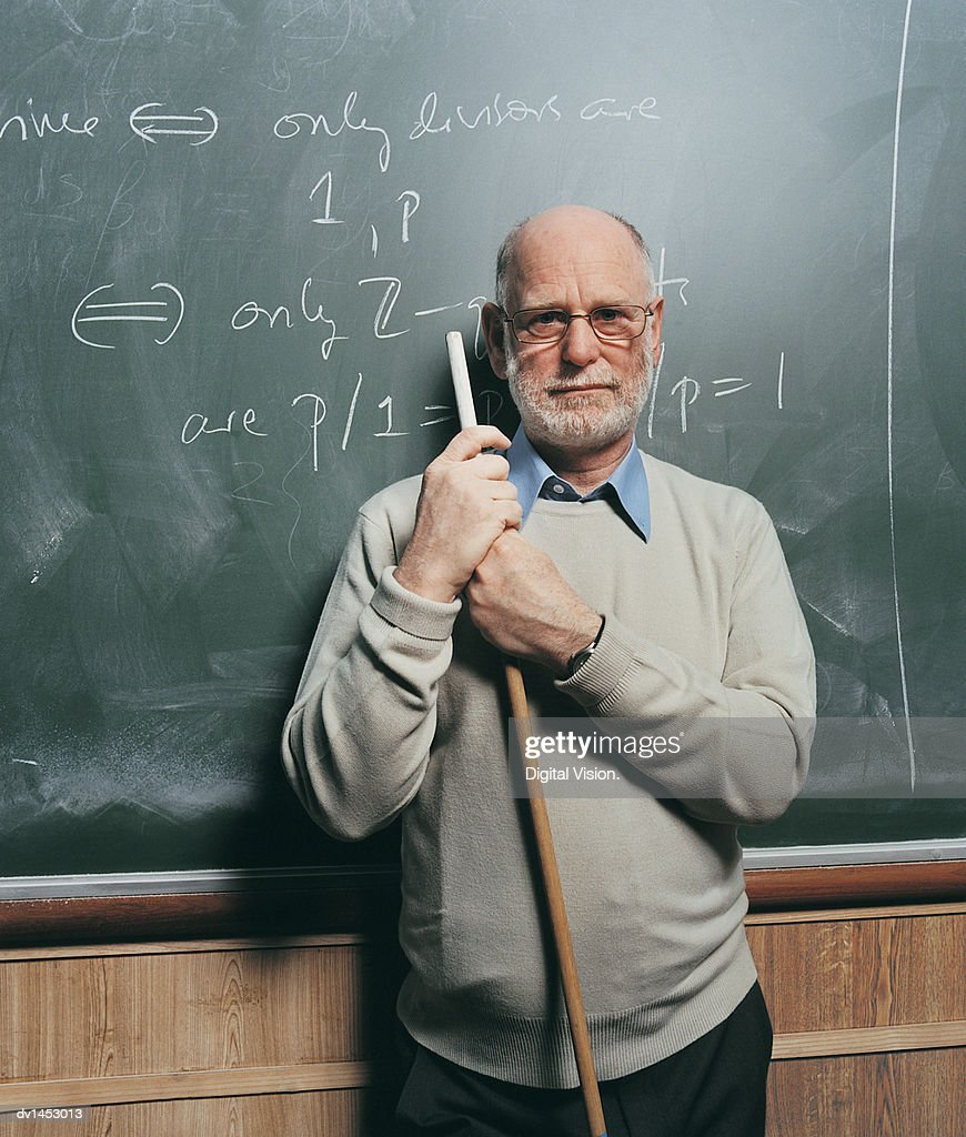 Portrait of a Maths Lecturer : Stock Photo