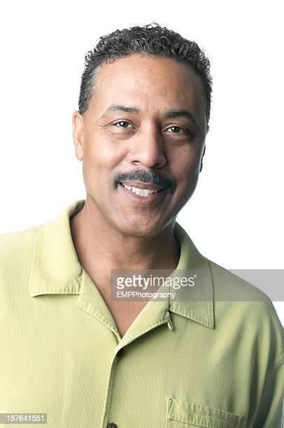 Afro-américaine homme isolé sur blanc