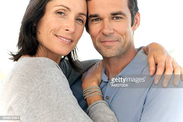 Portrait of a mature couple hugging