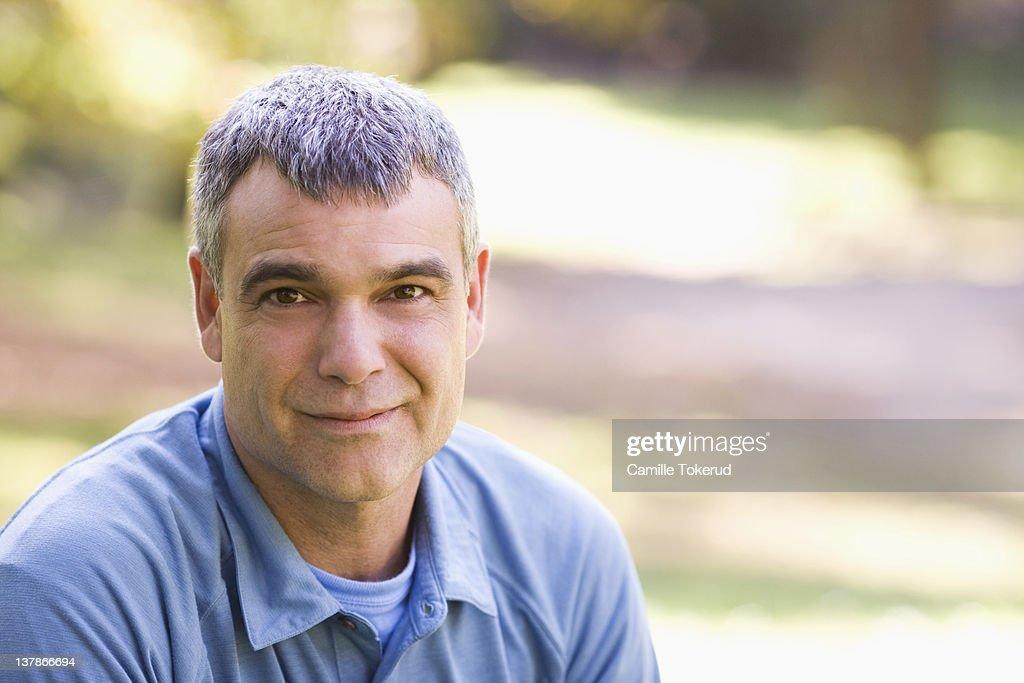 Portrait of a mature man : Stock Photo
