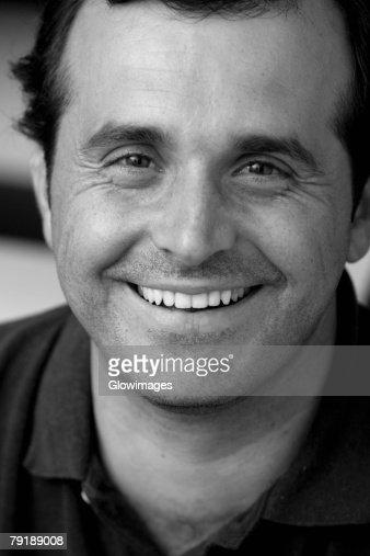 Portrait of a mature man smiling : Stock Photo