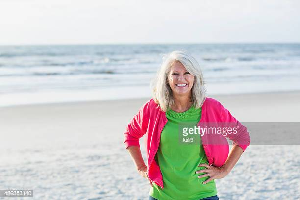 Portrait of a mature woman at the beach