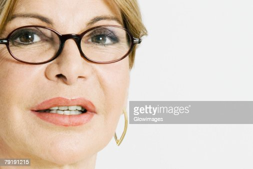 Portrait of a mature woman : Foto de stock