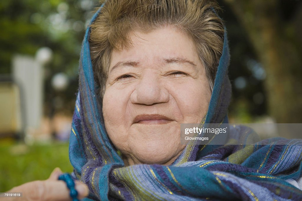 Portrait of a mature woman smiling : Foto de stock