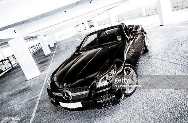 Portrait of a MercedesBenz SL convertible photographed in a multistorey car park taken on September 20 2013