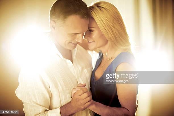 Portrait of a middle age couple.