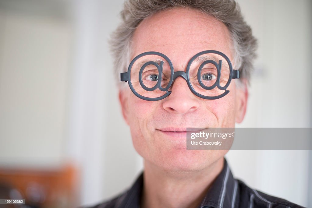 Portrait of a middleaged man wearing glasses with the at sign on August 11 in Duelmen Germany Photo by Ute Grabowsky/Photothek via Getty Images