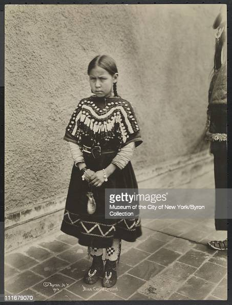 Portrait of a Native American girl Miss Cecile Ground at the McAlpin Hotel New York New York 1913