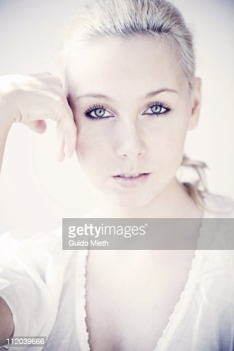 Portrait of a nice young women