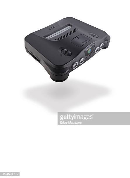 Portrait of a Nintendo 64 video game console photographed on a white background taken on August 2 2013