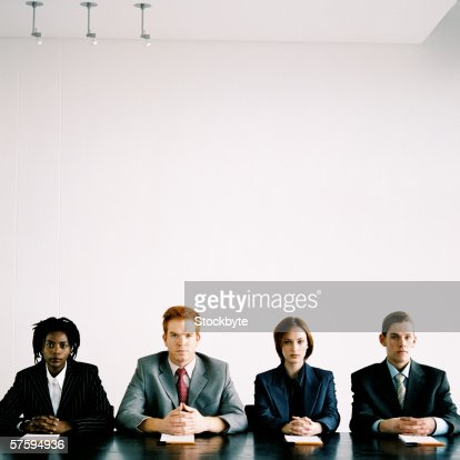 Portrait of a panel of young executives