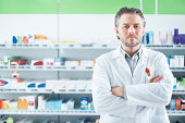 Portrait of a pharmacist in pharmacy