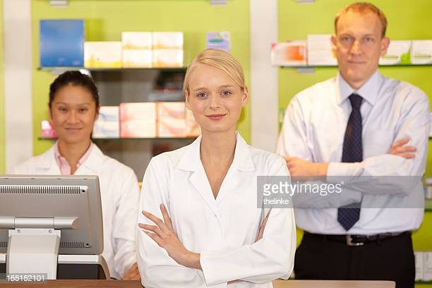 Portrait of a pharmacyst team