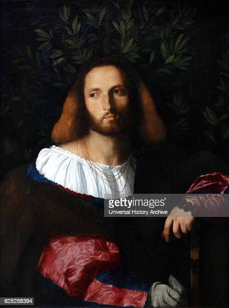 Portrait of a Poet oil on canvas by Palma il Vecchio Born Jacopo Palma and also known as Jacopo Negretti was an Italian painter of the Venetian...