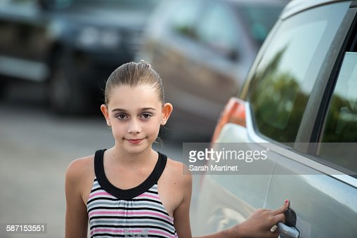 Portrait Of A Pretty 8 Year Old Girl Stock Photo Getty
