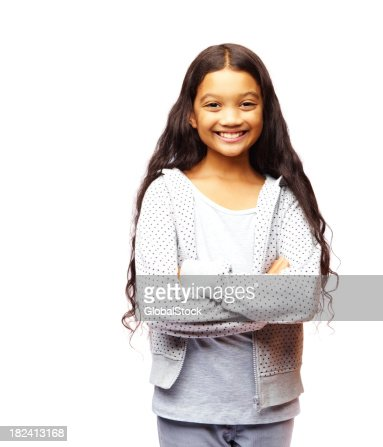 Portrait of a pretty girl isolated over white background