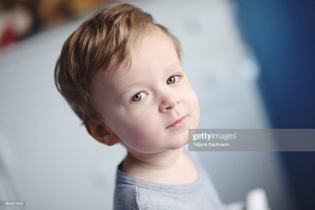 Portrait of a pretty, little boy : Stock Photo