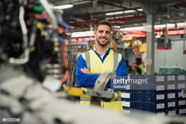Portrait of a Production Line Worker