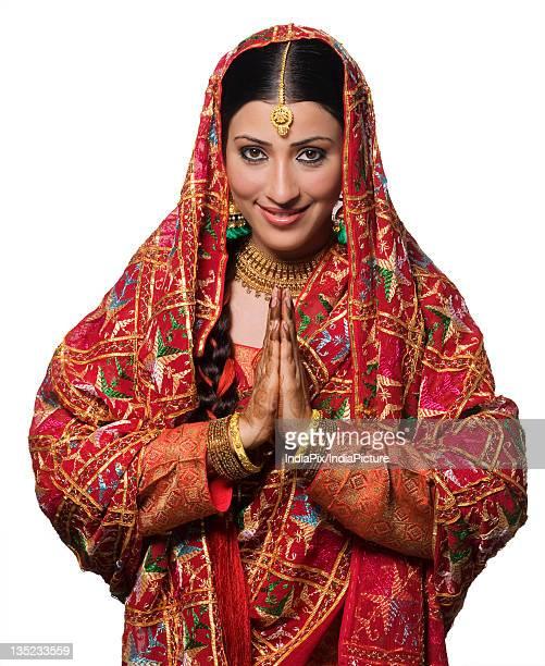 Portrait of a Punjabi bride