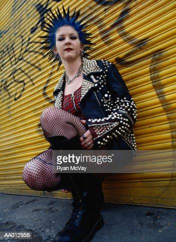 Portrait of a Punk Woman : Stock Photo