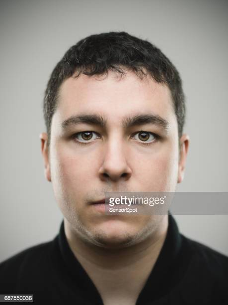 Portrait of a real young caucasian man