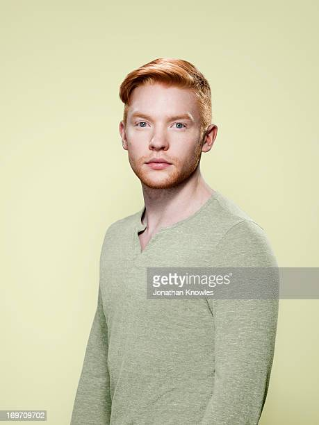 Portrait of a red hair male in pastels