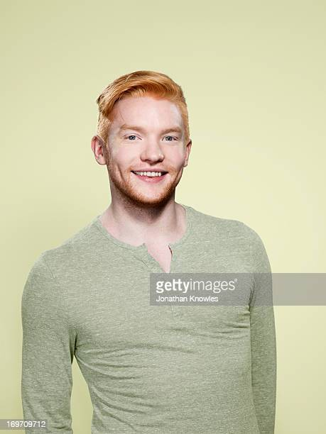 Portrait of a red hair male smiling