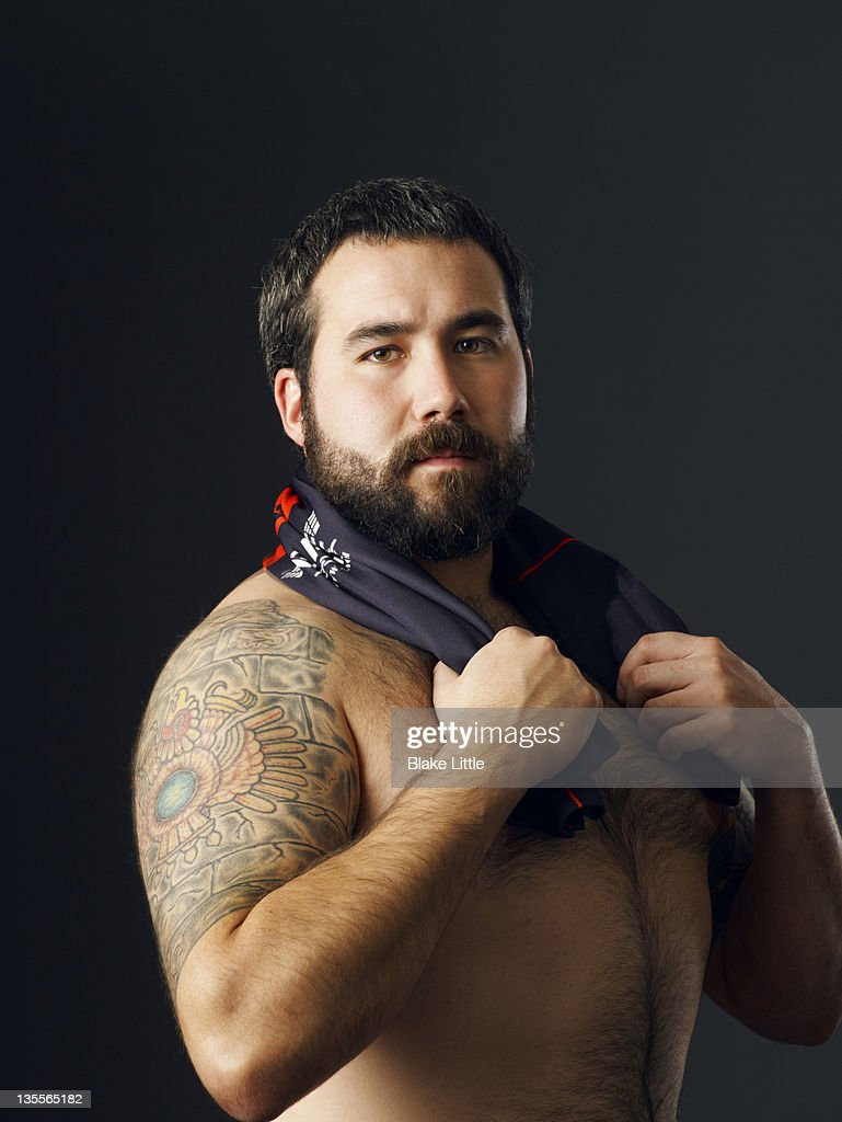 Portrait of a rugby player. : Stock Photo