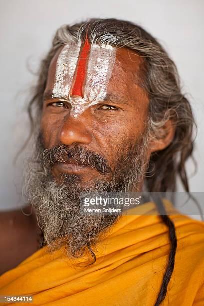 Portrait of a Sadhu holy man.