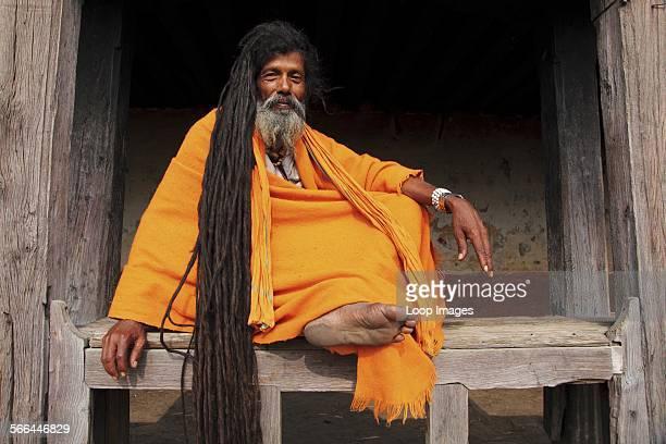 Portrait of a Sadhu man living along the Bagmati riverbank