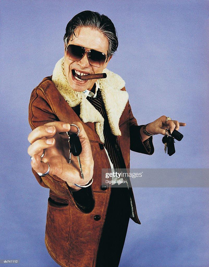 Portrait of a Salesman : Stock Photo