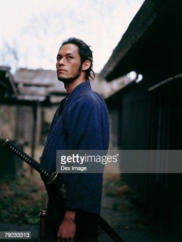 Portrait of a Samurai warrior : Stock Photo